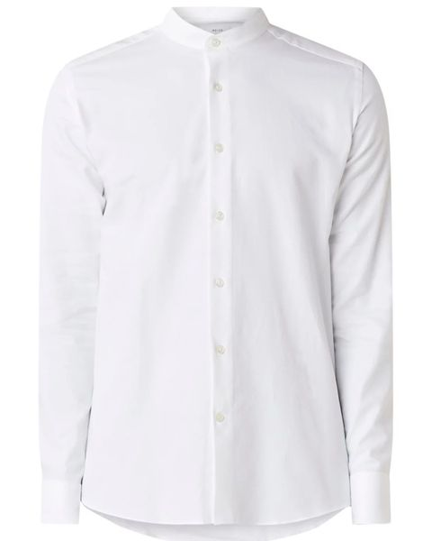 Clothing, White, Collar, Sleeve, Shirt, Button, Outerwear, Blouse, Top, Neck,