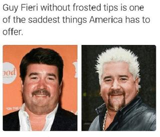 Image result for guy fieri hair meme