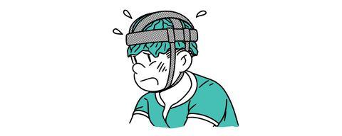 Green, Cartoon, Head, Illustration, Line art, Organ, Cheek, Line, Clip art, Human,