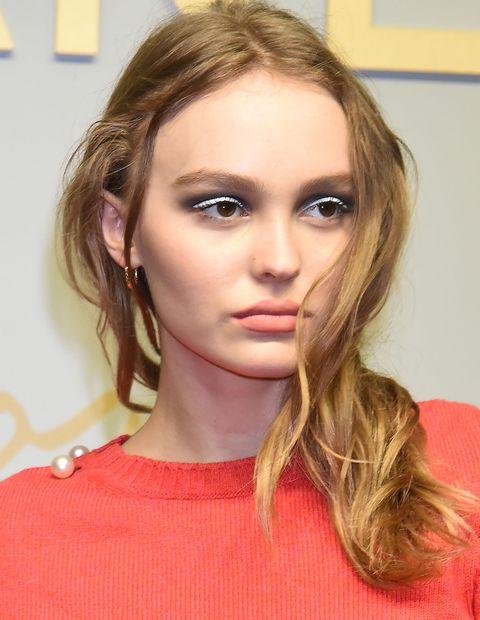 witte eyeliner makeup trend oog