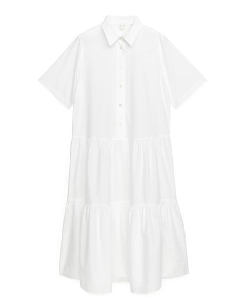 witte bloesjurk