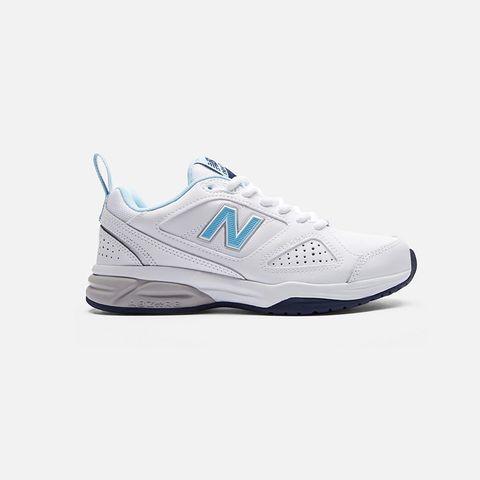 witte leren sneaker new balance