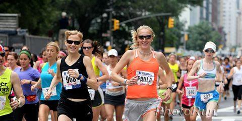 Mary Wittenberg and Paula Radcliffe at the 2010 New York Mini 10K