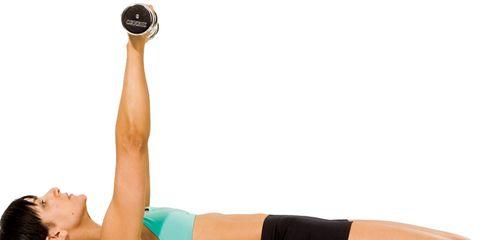 Arm Exercises: Woman on Balance Ball
