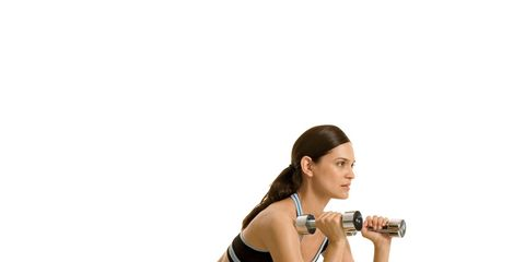 Beach Body: Woman lifting weights