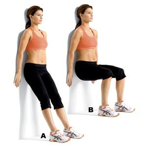 Image result for Wall Squats
