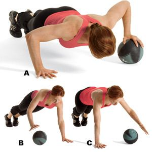 Image result for Medicine Ball Push Ups