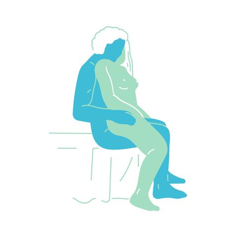 Turquoise, Sitting, Arm, Leg, Illustration, Silhouette, Elbow, Art,