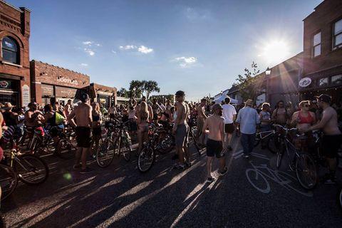 world naked bike ride paintball attack