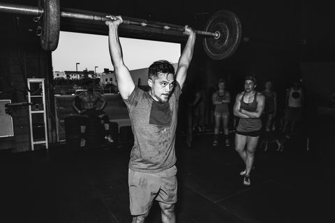 Physical fitness, Overhead press, Weightlifting, Shoulder, Powerlifting, Barbell, Strength training, Crossfit, Standing, Weight training,