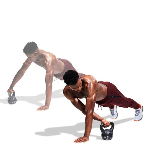 Press up, Arm, Weights, Kettlebell, Joint, Physical fitness, Exercise equipment, Chest, Shoulder, Leg,