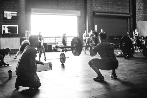 strength training, physical fitness, monochrome, gym, room, black and white, weights, exercise, weight training, circuit training,
