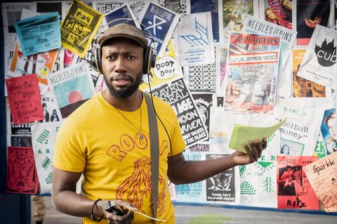"""woke    """"rhymes with broke""""   episode 101    when up and coming cartoonist keef knight has a traumatic run in with the police, he begins to see the world in an entirely new way  keef lamorne morris, shown photo by joe ledererhulu"""