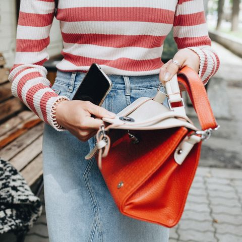 Street fashion, Clothing, Red, Orange, Fashion, Shoulder, Pink, Bag, Handbag, Leather,