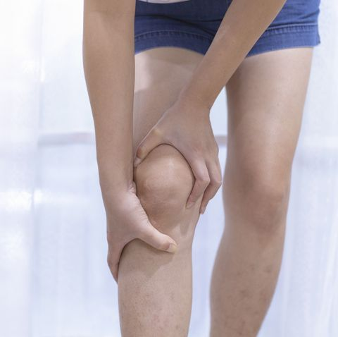 woman knee pain, leg pain