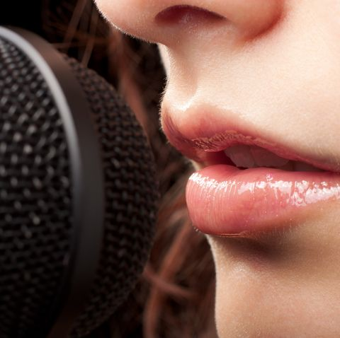 Woman Lips and Microphone