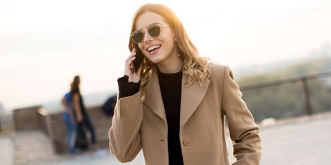 Clothing, Eyewear, Glasses, Brown, Coat, Sleeve, Collar, Textile, Outerwear, Standing,