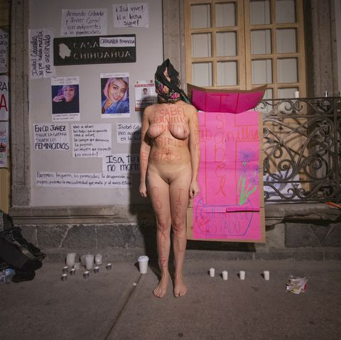 protest for the feminicide of isabel cabanillas in mexico city