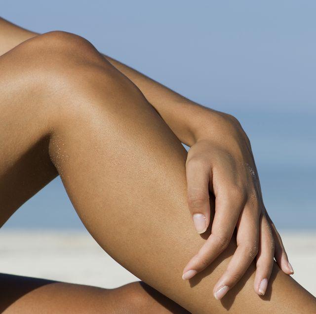fading spray tan legs