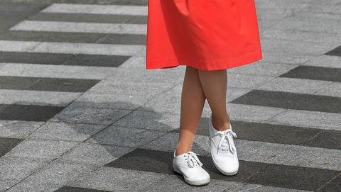 Woman wearing skirt