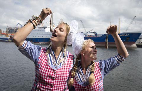 TOPSHOT-NETHERLANDS-TRADITION-FISHING-HEERING