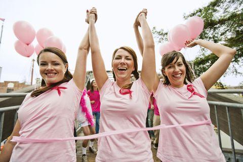 Women run in breast cancer marathon