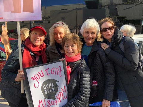 isabel at the 2017 women's march