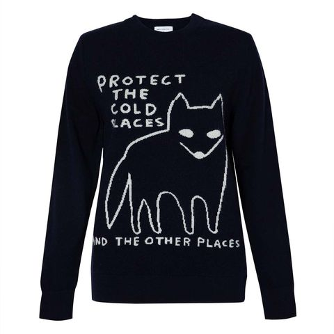 sunspel david shrigley tree charity christmas jumper