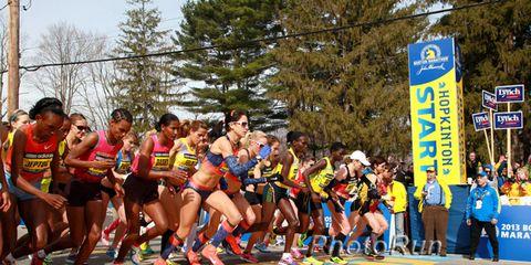 Start of the women's 2013 Boston Marathon