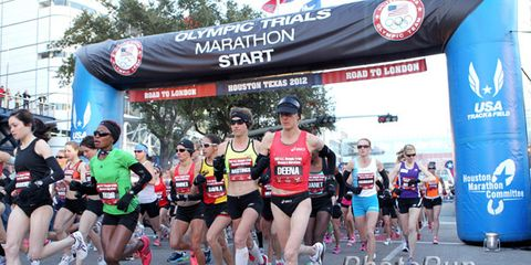 Start of the 2012 Women's Olympic Marathon Trials