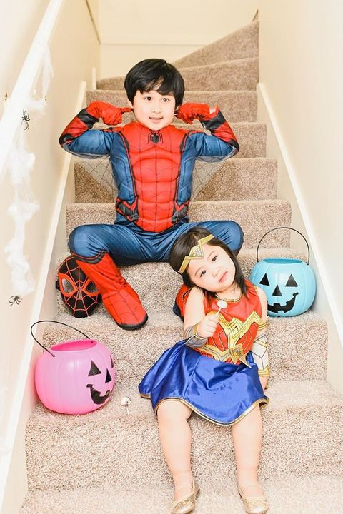 wonderwoman superman sibling costume
