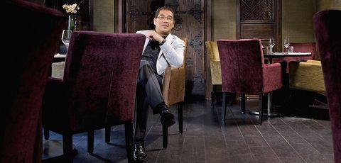 suit, sitting, furniture, formal wear,