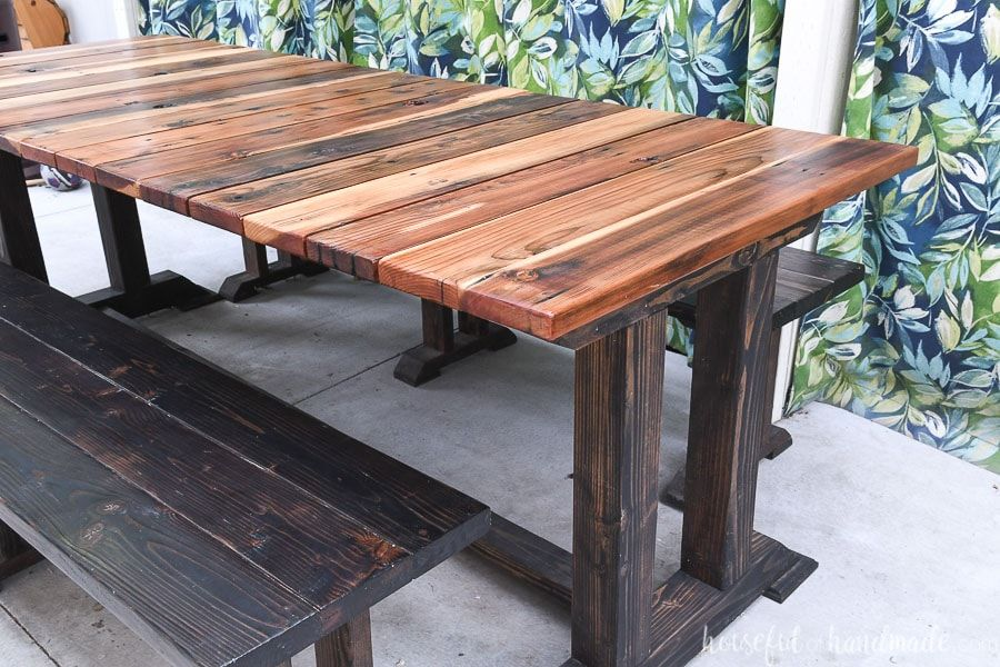 25 Diy Picnic Tables Best, Wooden Outdoor Tables