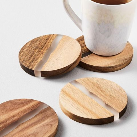 Wood + Resin Coasters (Set of 4)