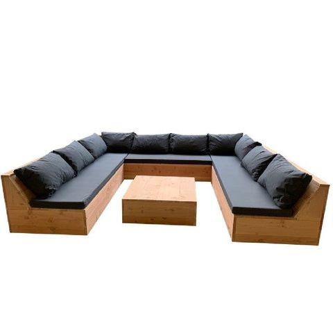 wood4you  loungeset douglas denver 200x250x200 cm  incl kussens