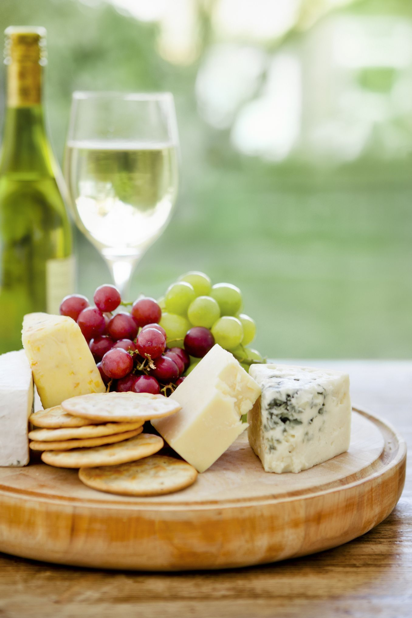 Stay-Skinny Secrets for Women Who Never Diet Cheese Grapes Wine Protein