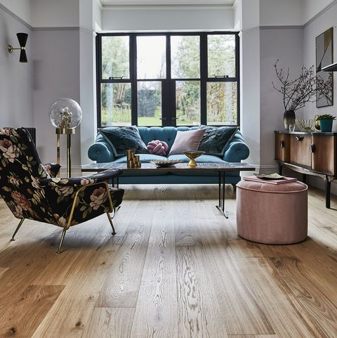 wooden flooring in the living room