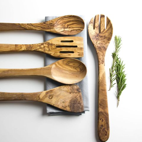 Etsy wooden salad cutlery set