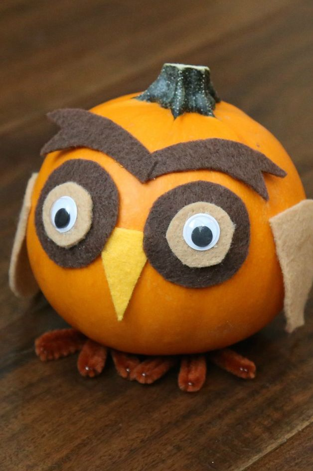 fall crafts for kids woodland animal pumpkins