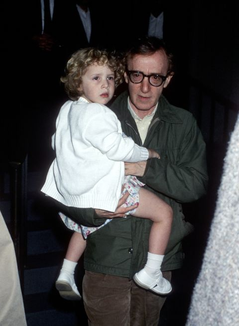Mia Farrow and Woody Allen Sighting at Her Apartment in New York City - May 2, 1989