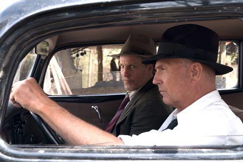 Woody Harrelson as Maney Gault, Kevin Costner as Frank Hamer, The Highwaymen