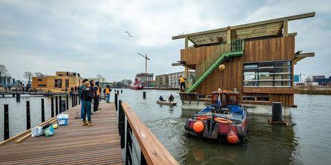 Duurzame woonwijk in Amsterdam Noord drijft