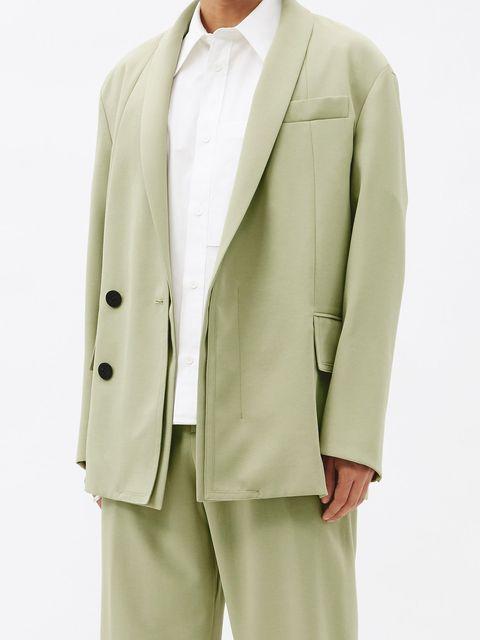 americana verde claro oversize hombre