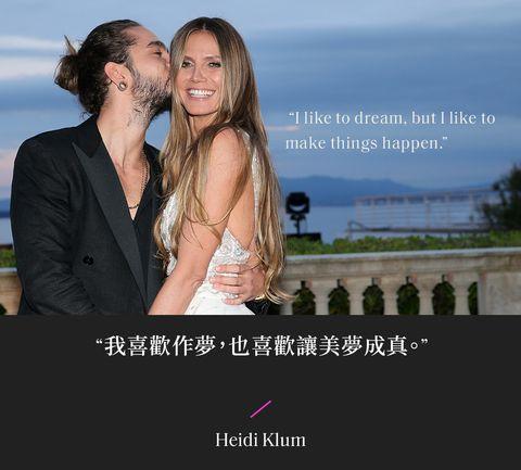 海蒂克隆(heidi klum)與老公合照