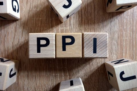 PPI word (Payment Protection Insurance) from wooden blocks