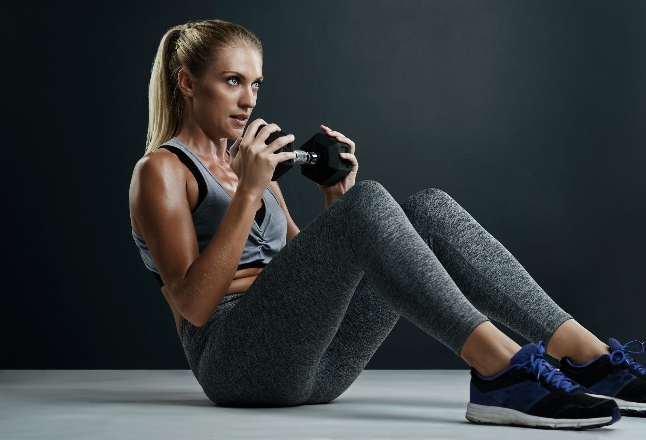 Weighted Abs Exercise - Dumbbell Exercises for Abs
