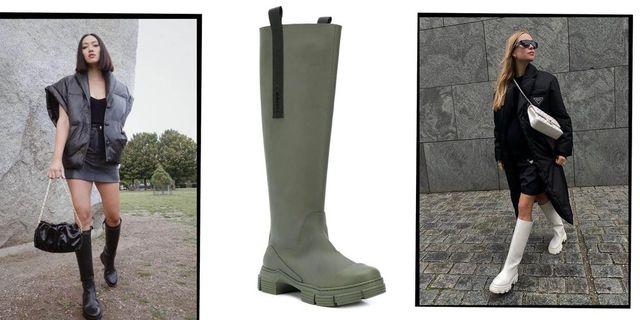 Clothing, Footwear, Leg, Brown, Sleeve, Boot, Textile, Human leg, Joint, Outerwear,