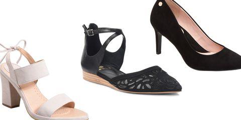 Footwear, High heels, Sandal, Shoe, Basic pump, Beige,