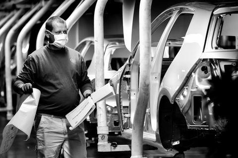 Volkswagen Resumes Automobile Production At Wolfsburg Plant During The Coronavirus Crisis