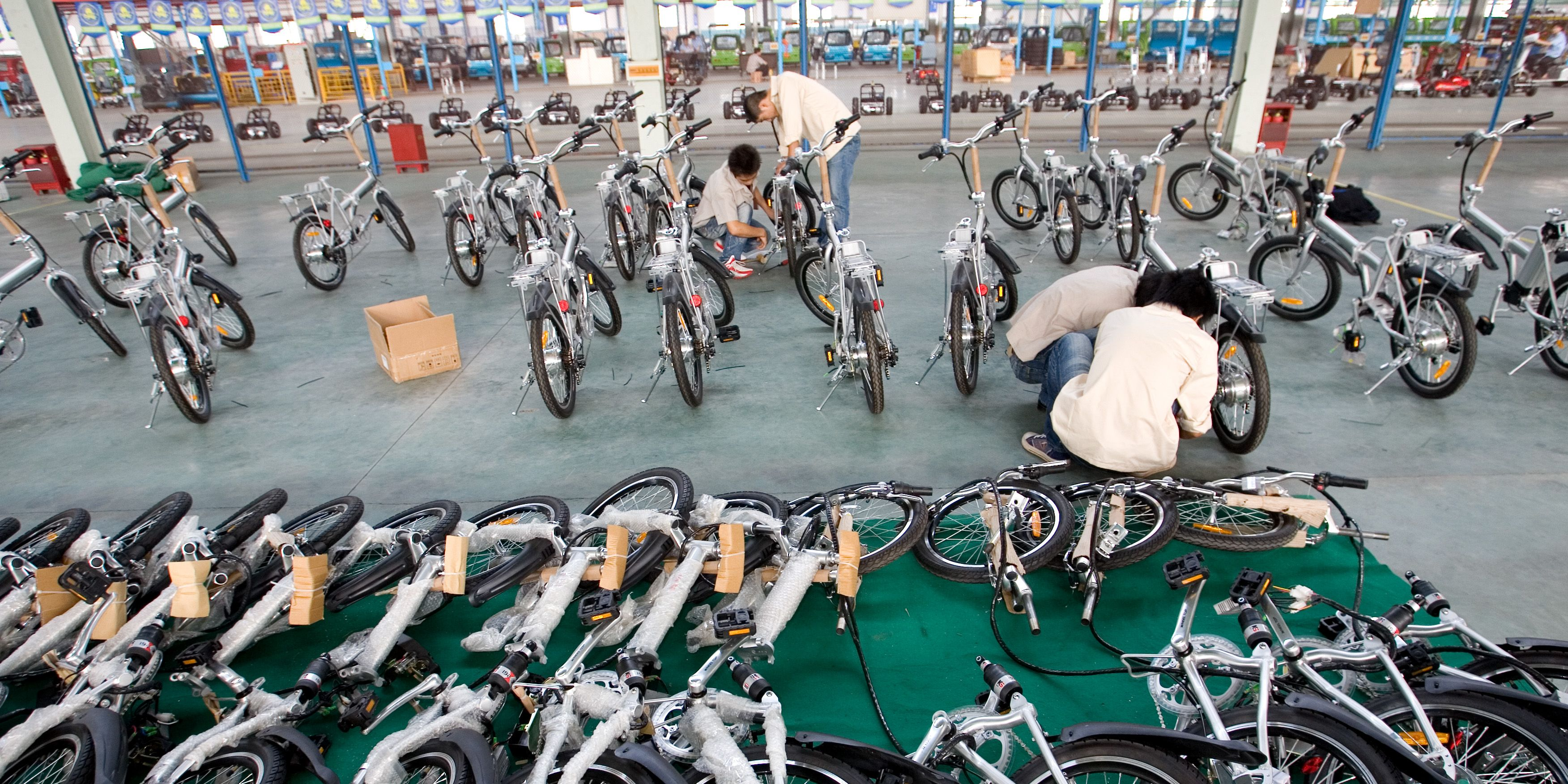 Repow electric vehicles factory in Zhejiang, China